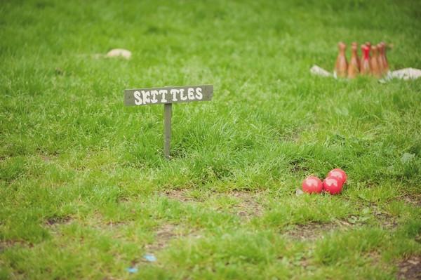 Village fete style skittles