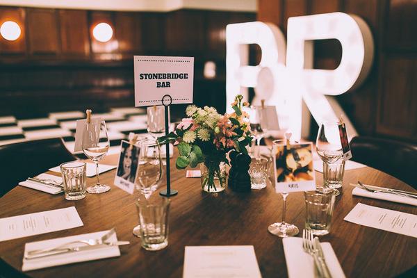 Stonebridge Bar wedding table name
