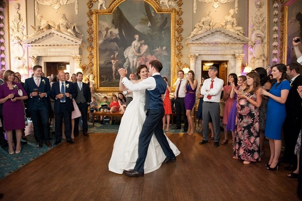 Bride and groom first dance at Moor Park Mansion