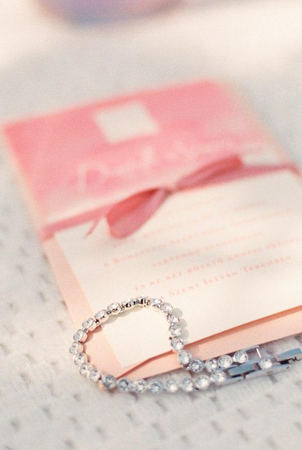 Bracelet on wedding stationery