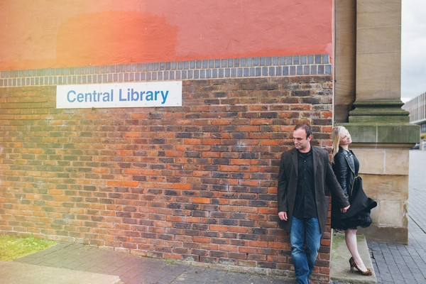 Couple outside Middlesbrough Reference Library