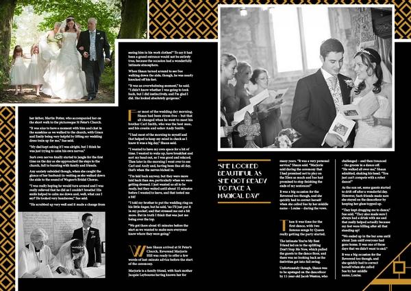 Inside of ArtDeco Style Personalised Wedding Magazine by LifetimesMAG