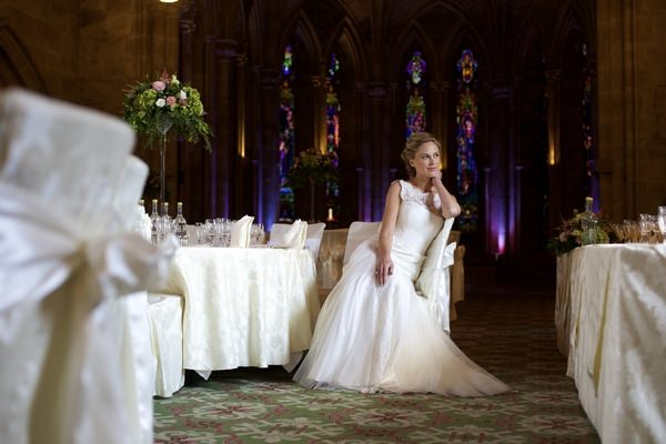 Bride in Chapel at Ashdown Park Hotel and Country Club