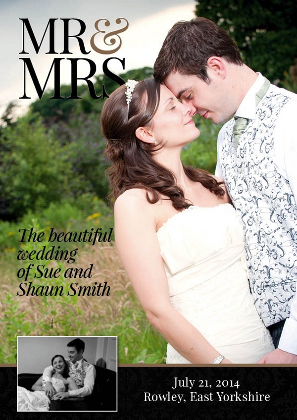 Font Cover of Elegant Style Personalised Wedding Magazine by LifetimesMAG