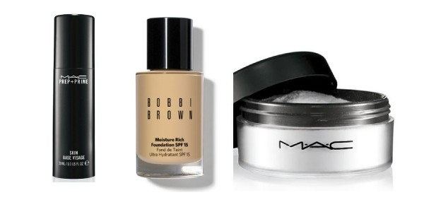 Primer, Foundation and Powder