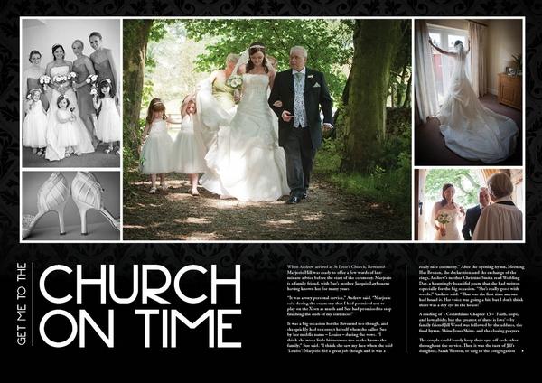 Inside of Sleek Style Personalised Wedding Magazine by LifetimesMAG