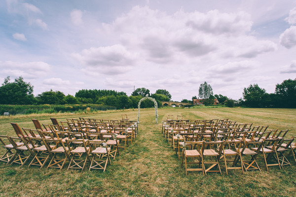 Wedding ceremony seating outside