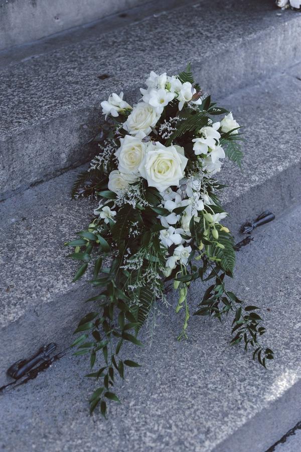 Trailing wedding bouquet