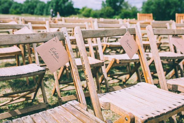 Wooden wedding seating