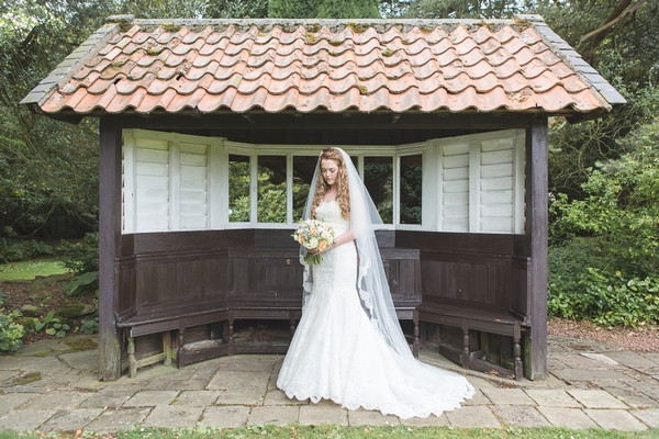 Bride in garden of Horton Grange