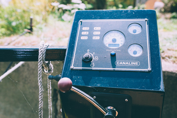 Canal boat motor