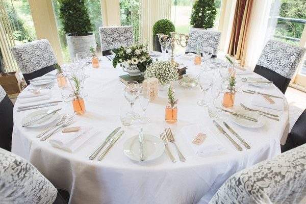 Wedding table at Horton Grange