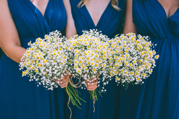 Chamomile wedding bouquets