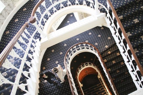Stairs in Duke of Cornwall Hotel