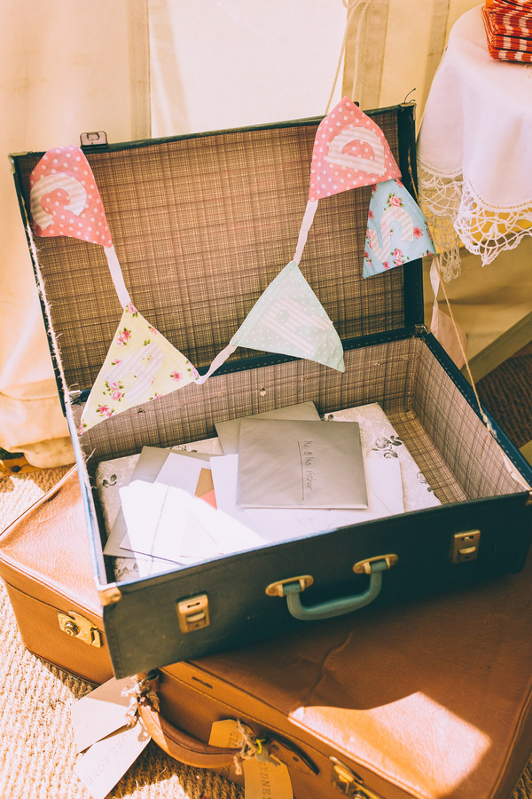 Vintage suitcase for wedding cards