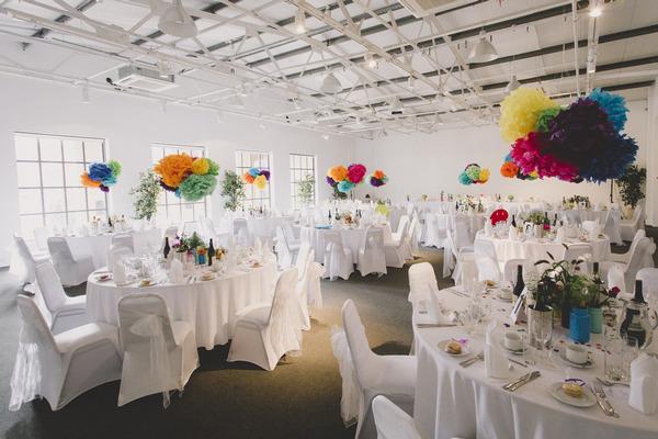 Wedding tables at Fazeley Studios