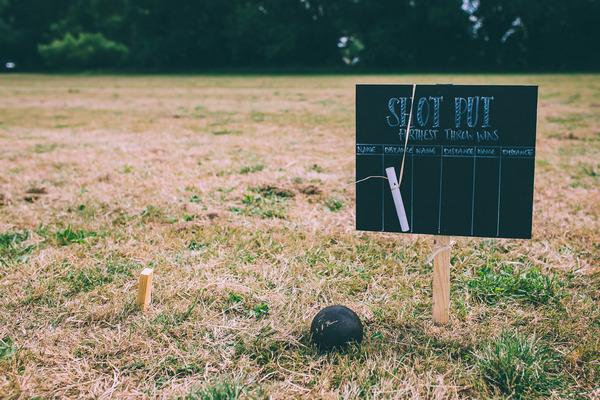 Shot put wedding game