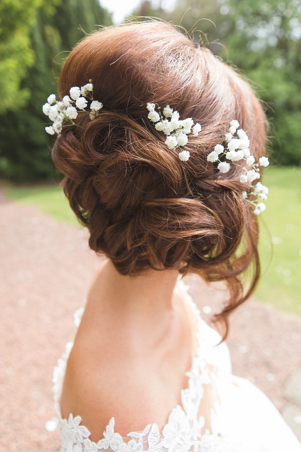 Back of bridal updo