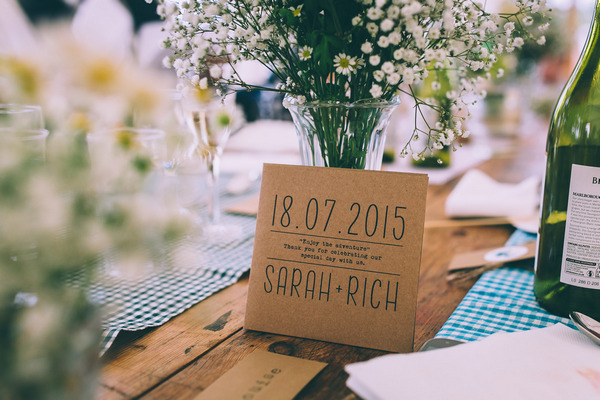 Rustic wedding table sign