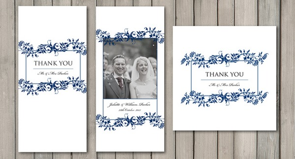 Flourish Wedding Thank You Card - Paperchain Wedding Stationery