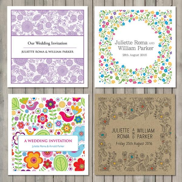 Flower Wedding Stationery - Paperchain Wedding Stationery