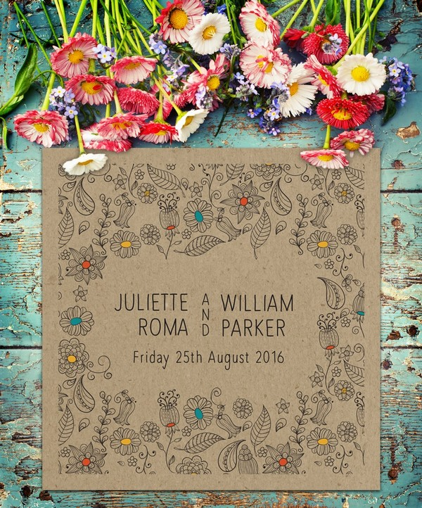 Natural Wedding Invitation - Paperchain Wedding Stationery