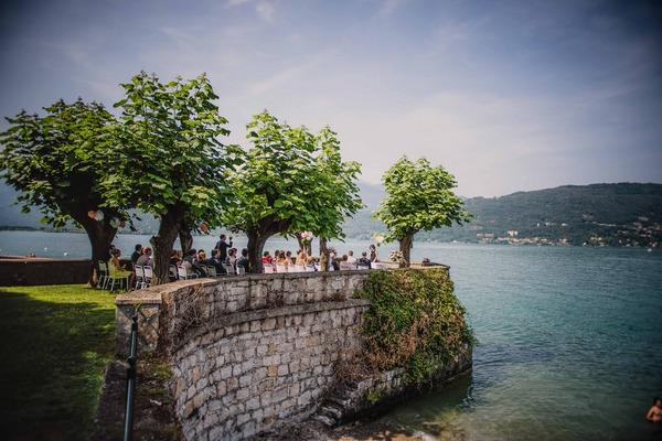 Wedding ceremony overlooking Lake Maggiore, Italy