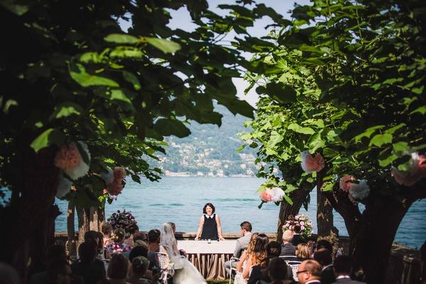 Outdoor wedding ceremony Lake Maggiore, Italy