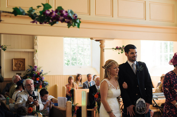 Wedding ceremony in Church of Scotland, Ardfern