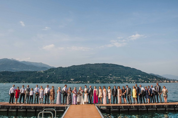 Wedding party by Lake Maggiore, Italy