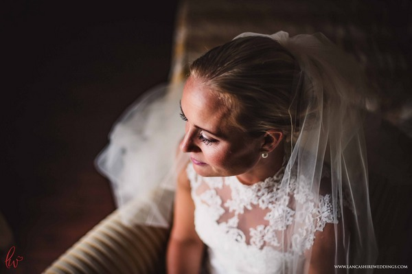 Bride with lace dress
