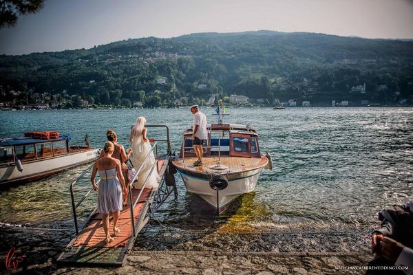 Boat on Lake Maggiore, Italy