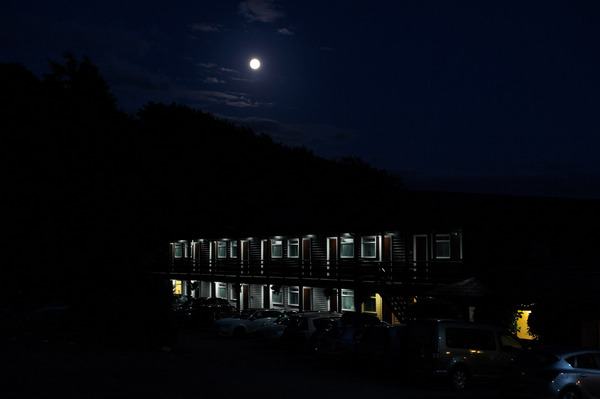 Loch Melfort Hotel at night