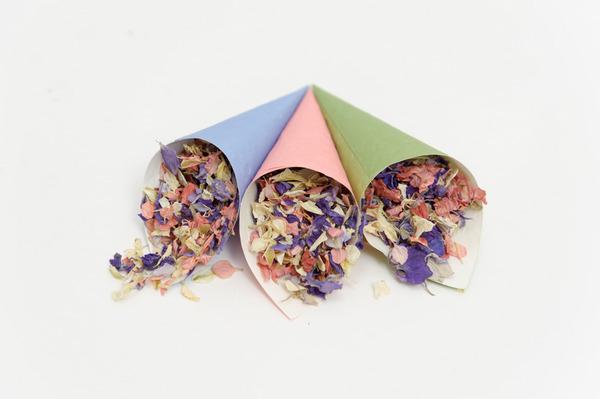 Confetti Cones with Kaleidoscope Confetti from Shropshire Petals