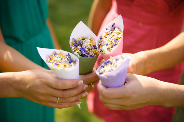 Mix it Up Confetti in Cones from Shropshire Petals