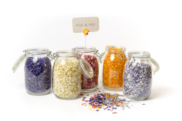 Pick and Mix Jars of Confetti from Shropshire Petals