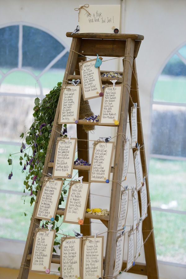Table Plan with Confetti from Shropshire Petals