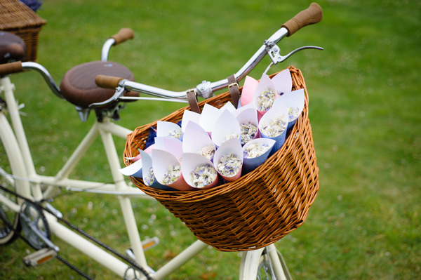Vintage Bike with Winters Morn Confetti from Shropshire Petals
