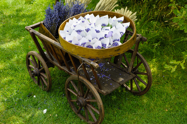 Vintage Cart with Midnight Blue Confetti from Shropshire Petals