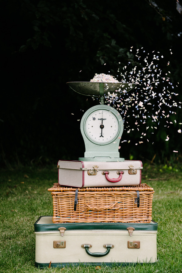 Vintage Scales with Summer Nights Confetti from Shropshire Petals