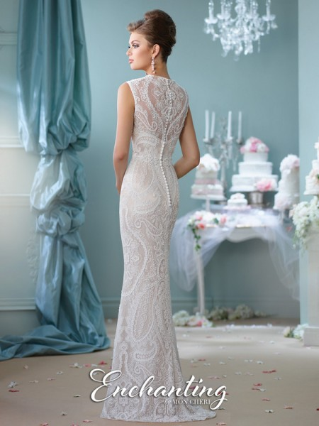 Picture of Back of 116123 Wedding Dress - Enchanting by Mon Cheri Spring 2016 Bridal Collection