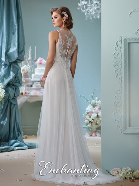 Picture of Back of 116124 Wedding Dress - Enchanting by Mon Cheri Spring 2016 Bridal Collection