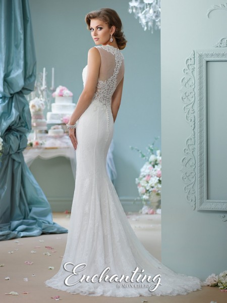 Picture of Back of 116125 Wedding Dress - Enchanting by Mon Cheri Spring 2016 Bridal Collection