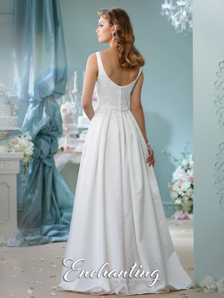 Picture of Back of 116126 Wedding Dress - Enchanting by Mon Cheri Spring 2016 Bridal Collection