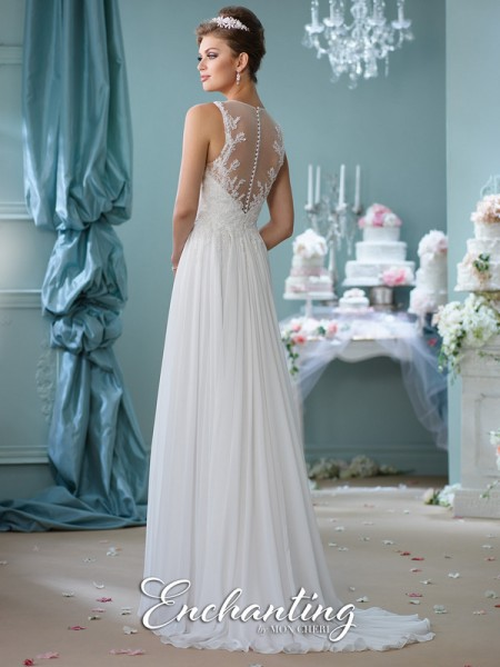 116127 Back - Enchanting by Mon Cheri Spring 2016 Bridal Collection