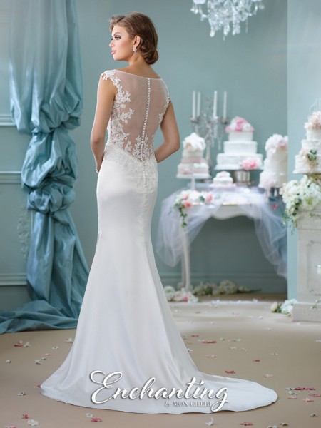 Picture of Back of 116129 Wedding Dress - Enchanting by Mon Cheri Spring 2016 Bridal Collection