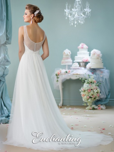 Picture of Back of 116130 Wedding Dress - Enchanting by Mon Cheri Spring 2016 Bridal Collection