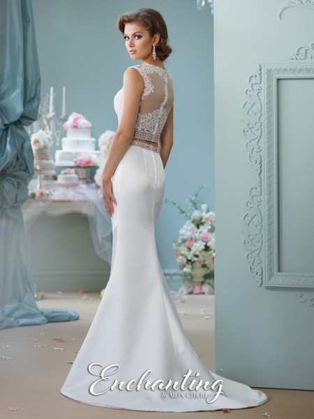 Picture of Back of 116131 Wedding Dress - Enchanting by Mon Cheri Spring 2016 Bridal Collection