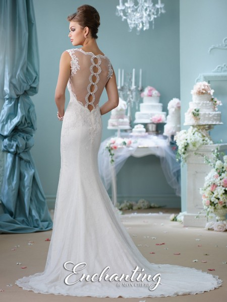 Picture of Back of 116132 Wedding Dress - Enchanting by Mon Cheri Spring 2016 Bridal Collection
