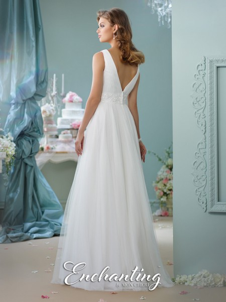 Picture of Back of 116133 Wedding Dress - Enchanting by Mon Cheri Spring 2016 Bridal Collection